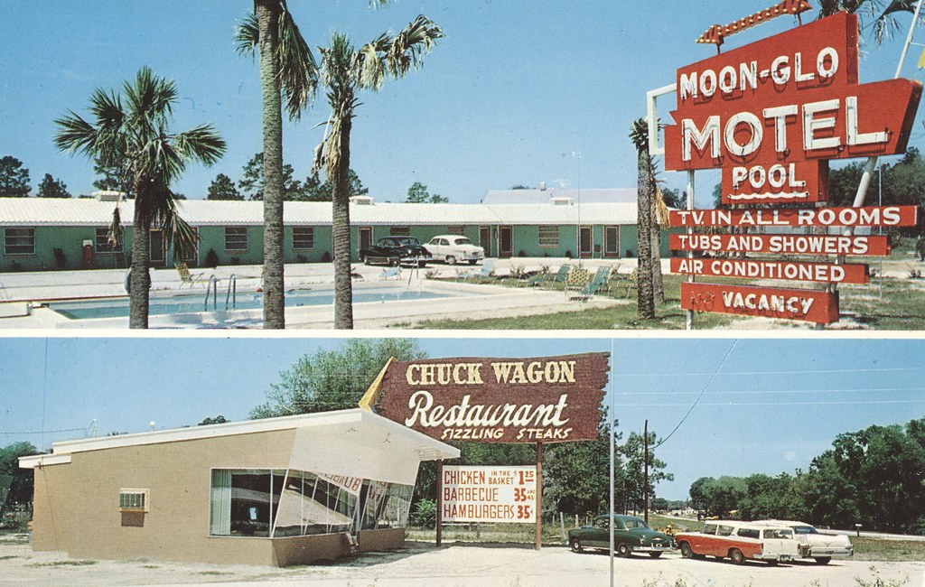 Moon-Glo Motel and Chuck Wagon Restaurant - Lake City, Florida