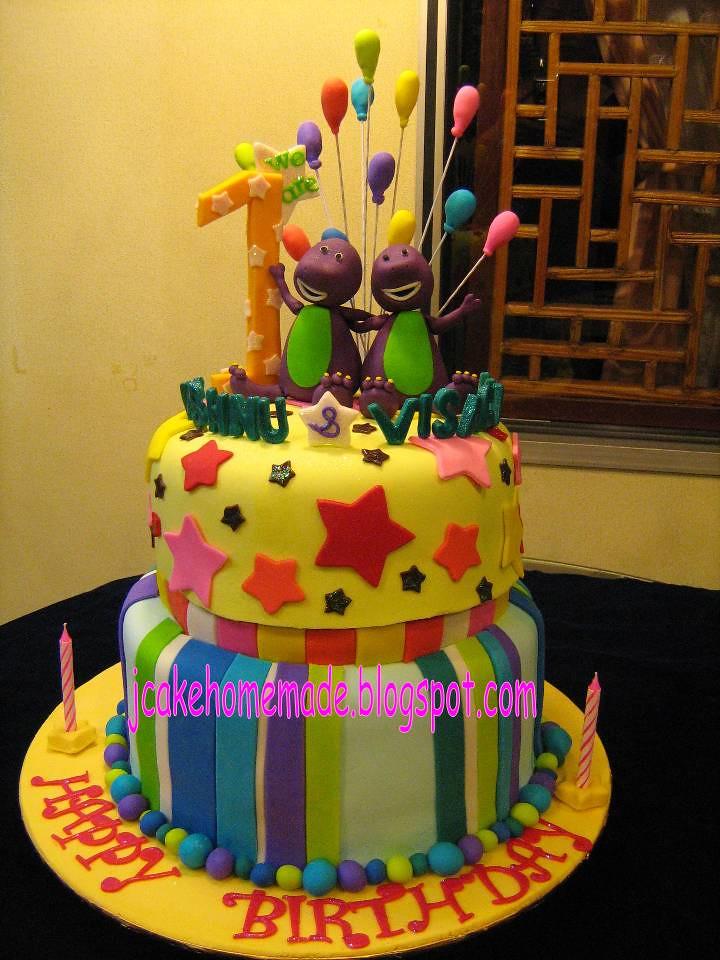 Barney birthday cake Happy 1st birthday Vishnu Visagan Flickr