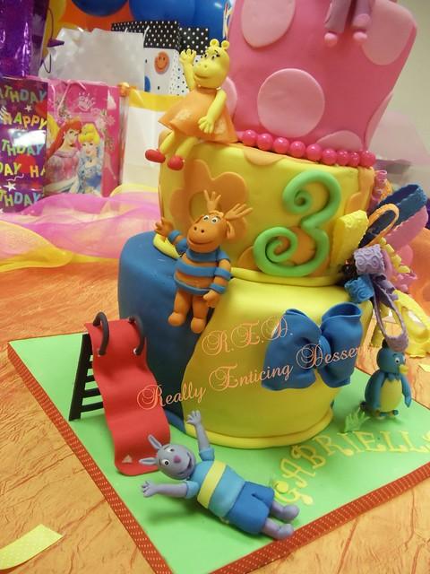 Backyardigans themed birthday cake flickr photo sharing for Backyardigans party decoration