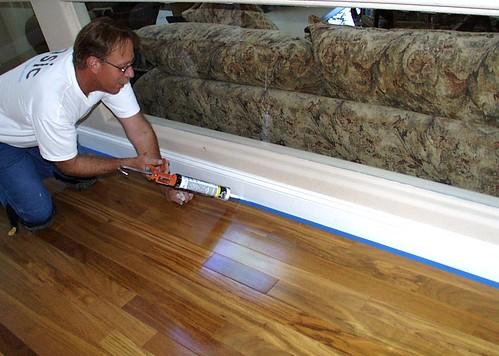 Hardwood Flooring Talk Caulk Gaps Under Bottom Of Baseboar