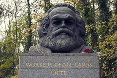 Karl Marx at Highgate Cemetery