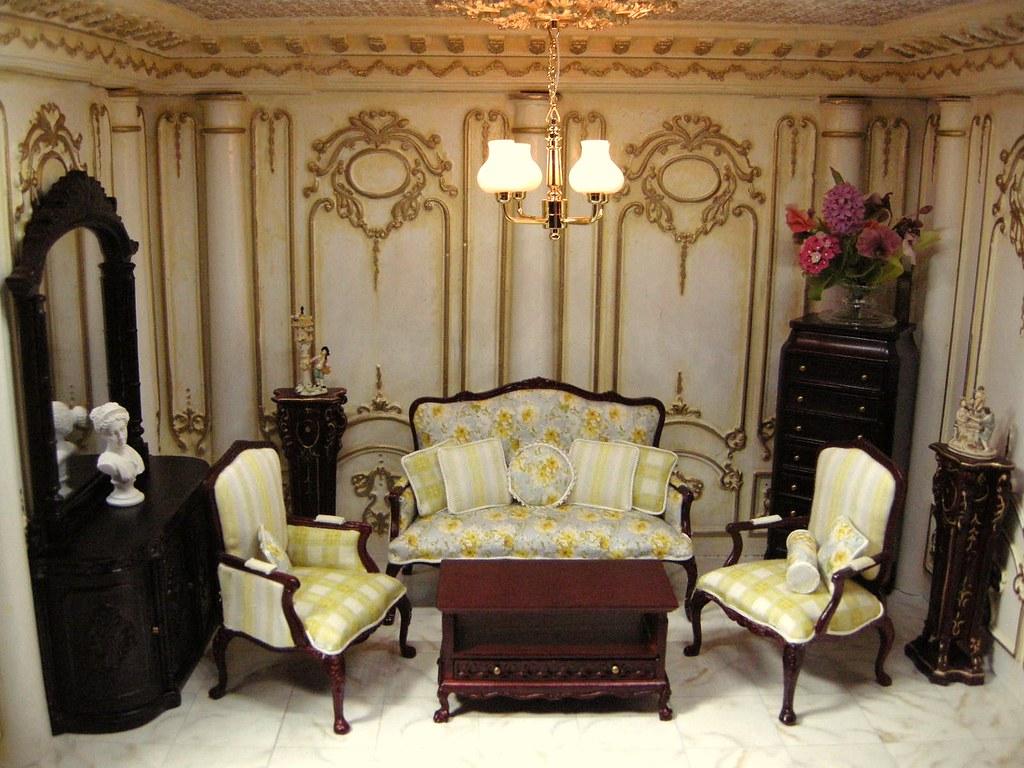 Victorian Style Living Room Regency Style Room Box Ken Haseltine Regent Miniatures