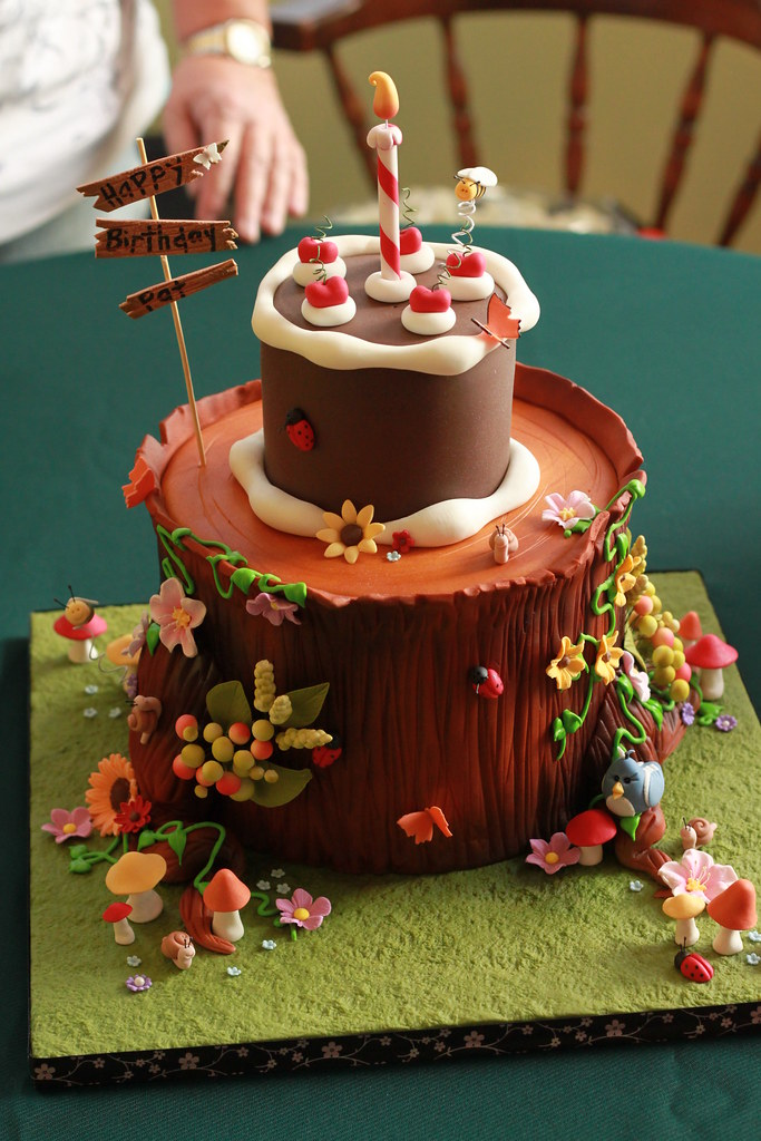 Tree Stump Birthday Picnic I Made This Cake For A Dear