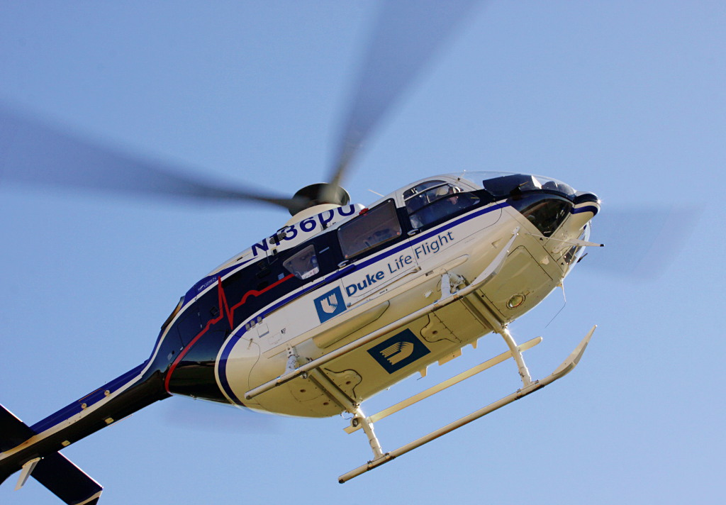 Duke Life Flight visit--inbound helicopter | Emergency ...