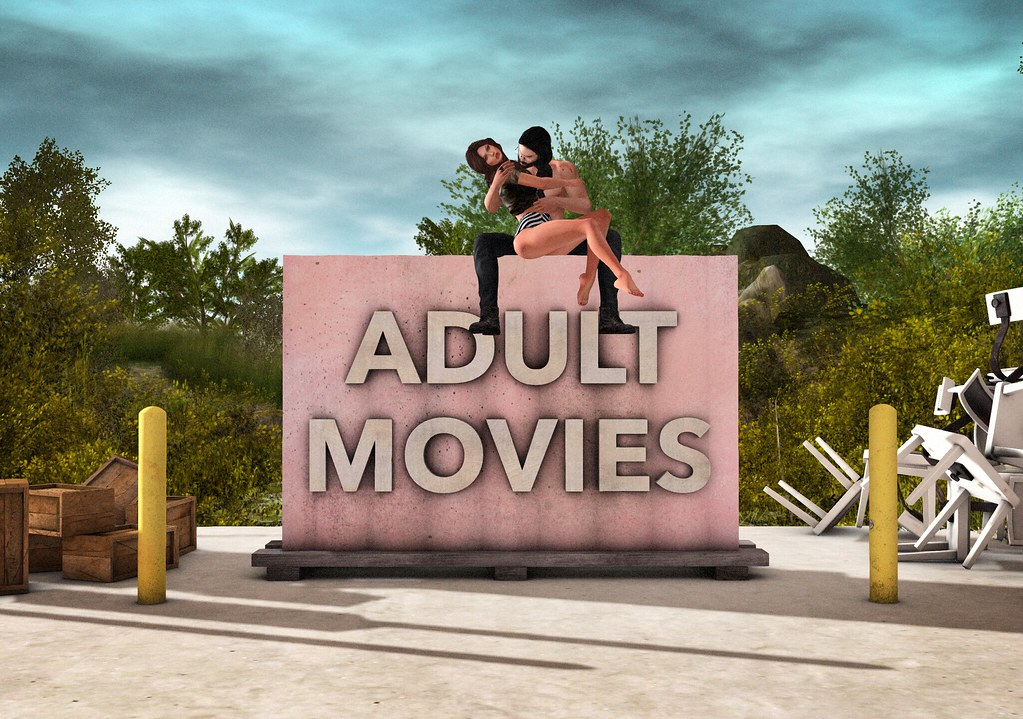 Adult Movies Sign Animated And Texture Change  New For -2599