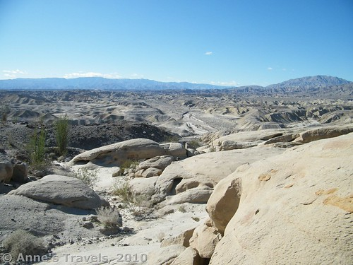 Views from Wind Caves in Anza Borrego Desert State Park, California