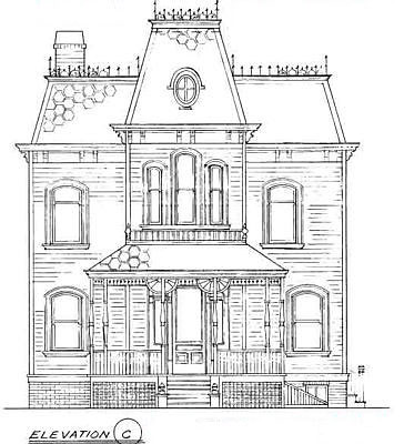 Bates house elevation could be very useful for someone for Norman bates house floor plan