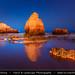 Portugal - Mars or Night scene from Praia da Rocha (Rocha Beach) near Portimao in Algarve