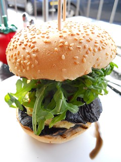 Giant mushroom burger from Gourmet Burger Kitchen | by Ben Sutherland
