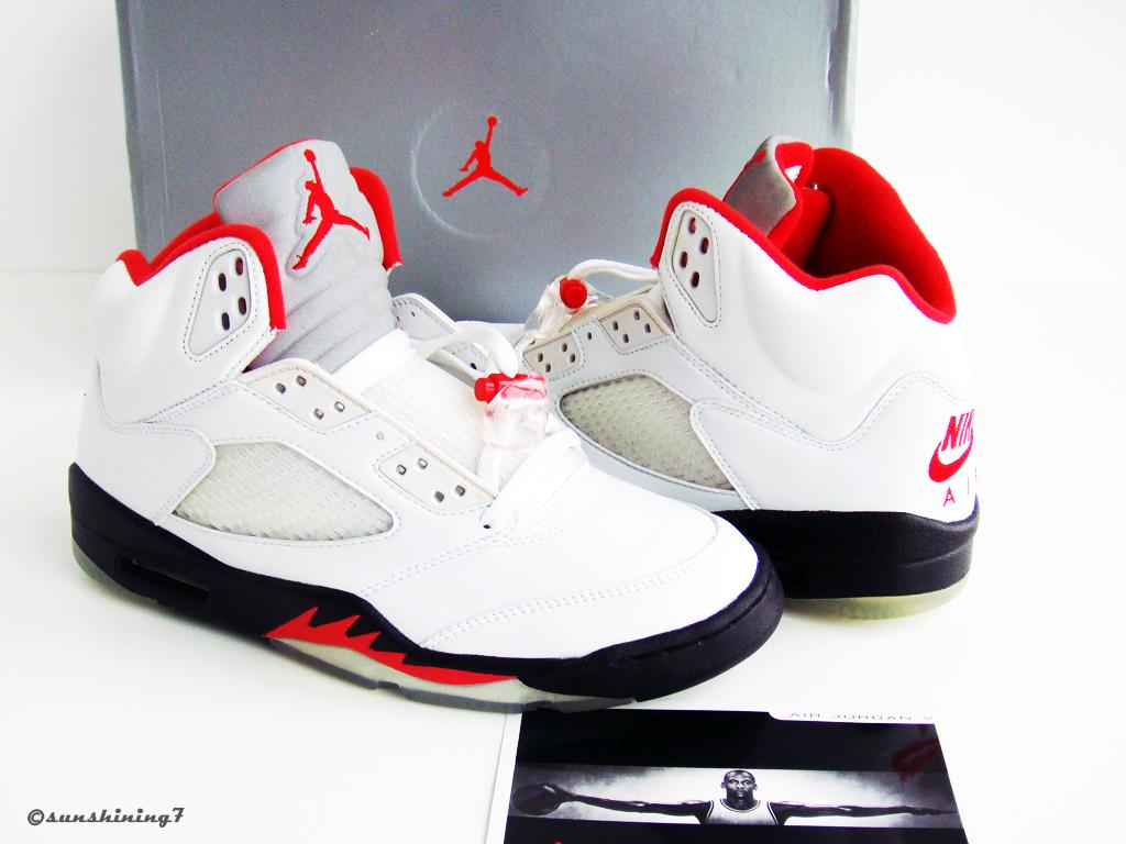 ... Sunshining7 - Nike Air Jordan V (5) - Retro 99 - White Fire Red