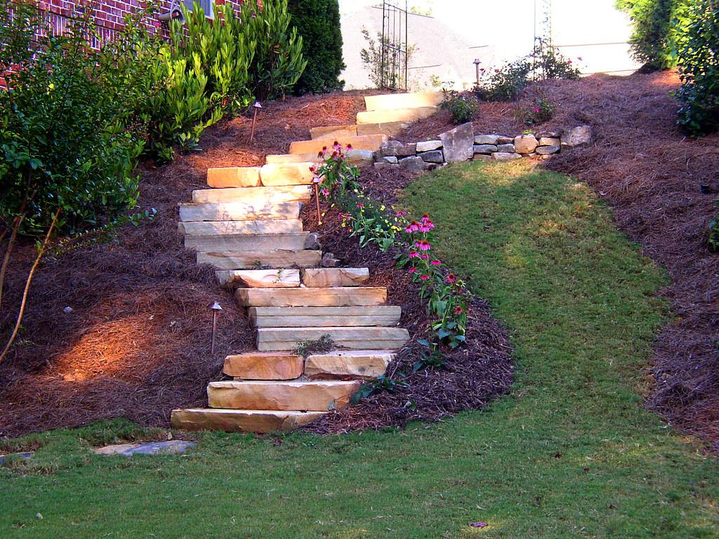 Atlanta landscape stone steps arnoldmasonryandlandscape for Landscaping rocks pinellas county