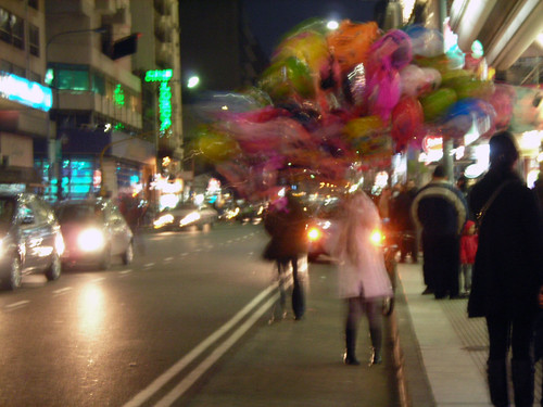 street balloons/pigeons and fuzzy shapes | by j o u r n e y
