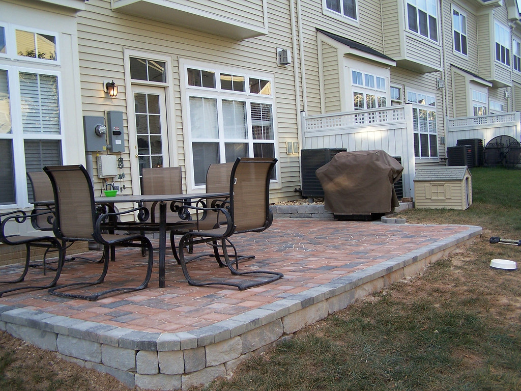 After - Townhouse Paver Patio | longfence | Flickr