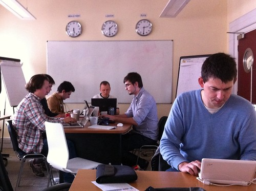 Working at the Mapnik code sprint | by DevelopmentSeed