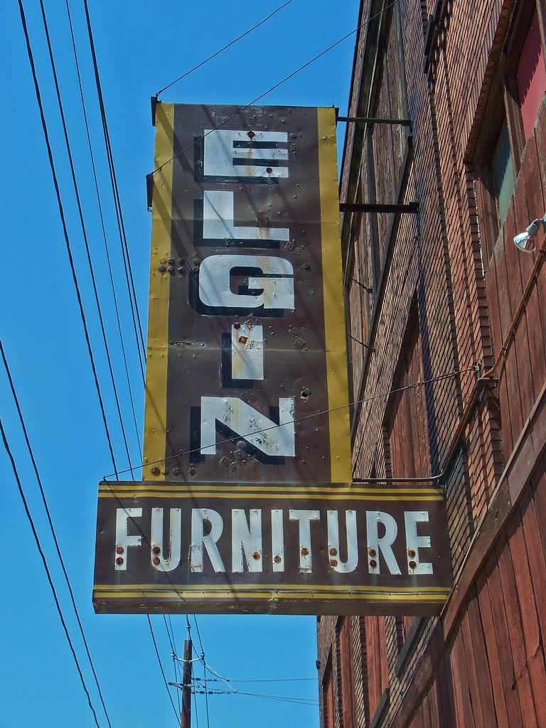 Oh Cleveland Elgin Furniture Re Purposed Sign For Elgin Flickr