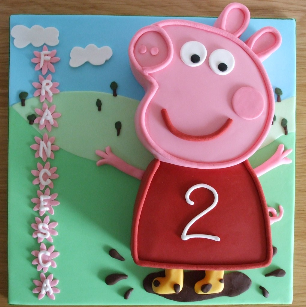 peppa pig cake template free - peppa pig cake flat cake made from a 6 square and 7