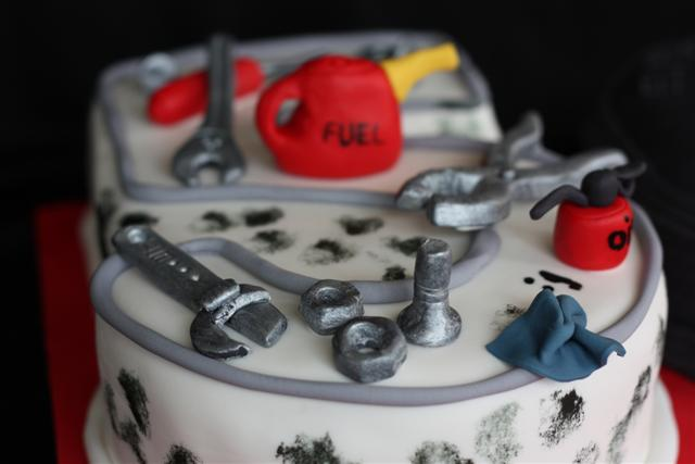 50th Birthday Cake For A Mechanic Managed To Get This