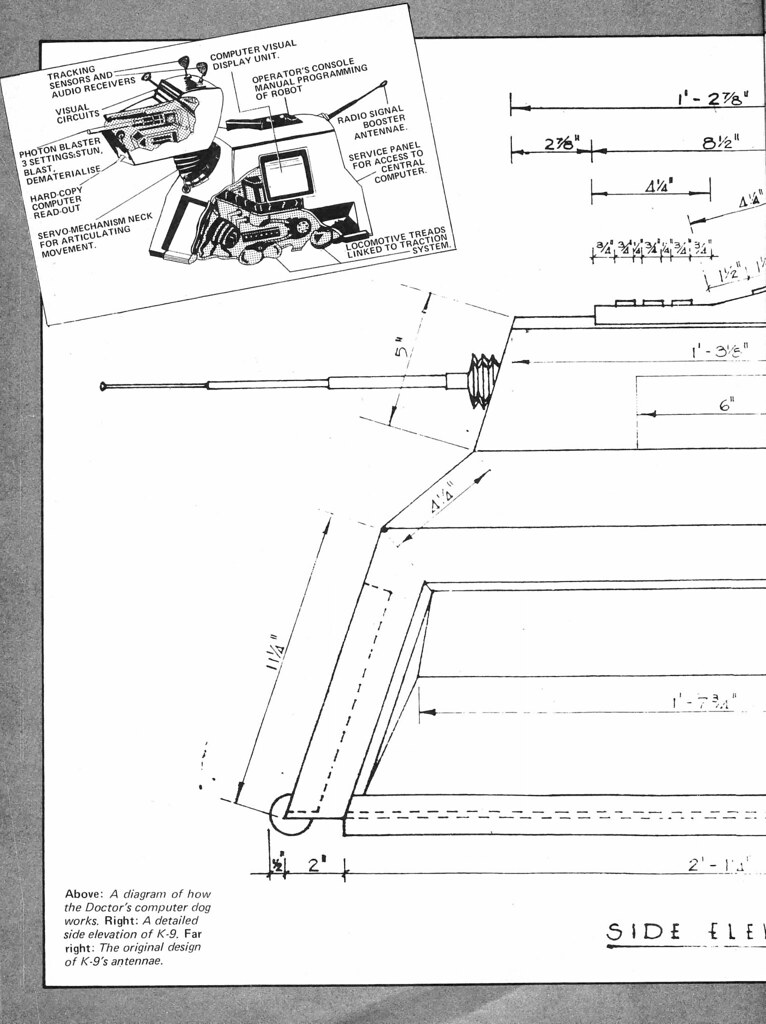 Doctor who k 9 blueprints 1980 3 combomphotos flickr doctor who k 9 blueprints 1980 3 by combomphotos malvernweather Images