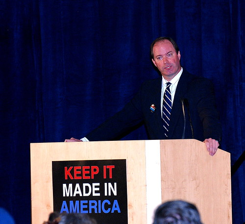 Kyle Foust, Chair of the Erie County Council, at the Keep It Made in America Town Hall Meeting in Erie, PA on 10/18/10 | by Alliance for American Manufacturing