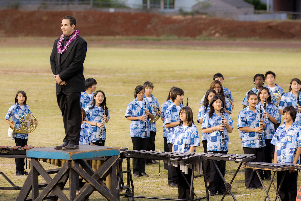 Moanalua Middle School With Their Director Ryan About