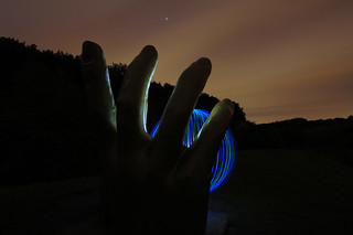 Light Orb in Hand | by [inFocus]