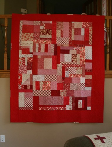 red quilt | by crazymomquilts