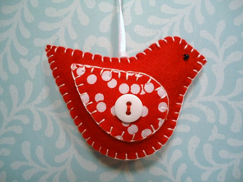 Cheerful Redbird Ornament | by misseskwittys