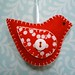 Cheerful Redbird Ornament