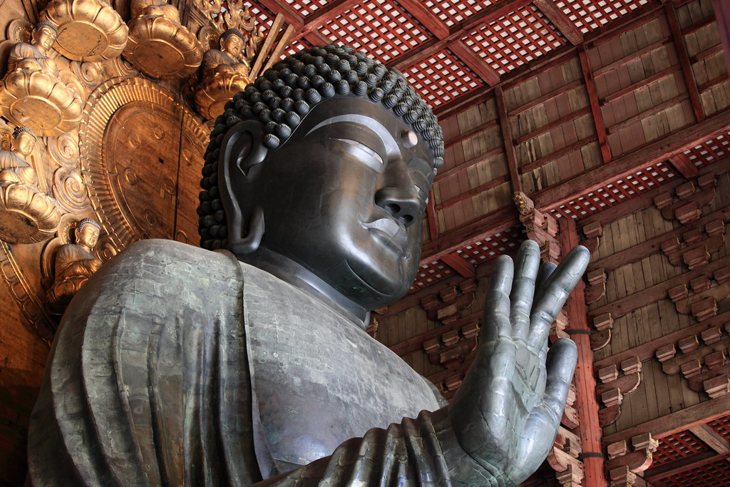 Great Buddha Ť�仏 Á�いぶつ Tohdai Ji Temple Nara Shi City