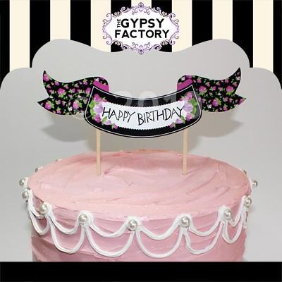 Printable Bettys Birthday Happy Cake Topper