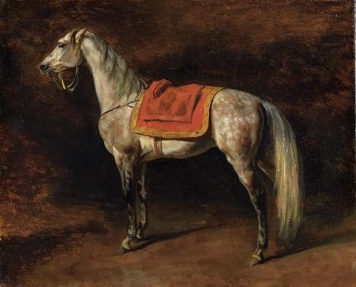 Gericault theodore 1791 1824 1813c napoleon 39 s horse for Napoleon horse painting