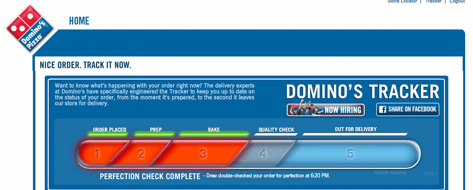 Domino S Pizza New Quot Delivery Status Tracker Quot Is A Great Id