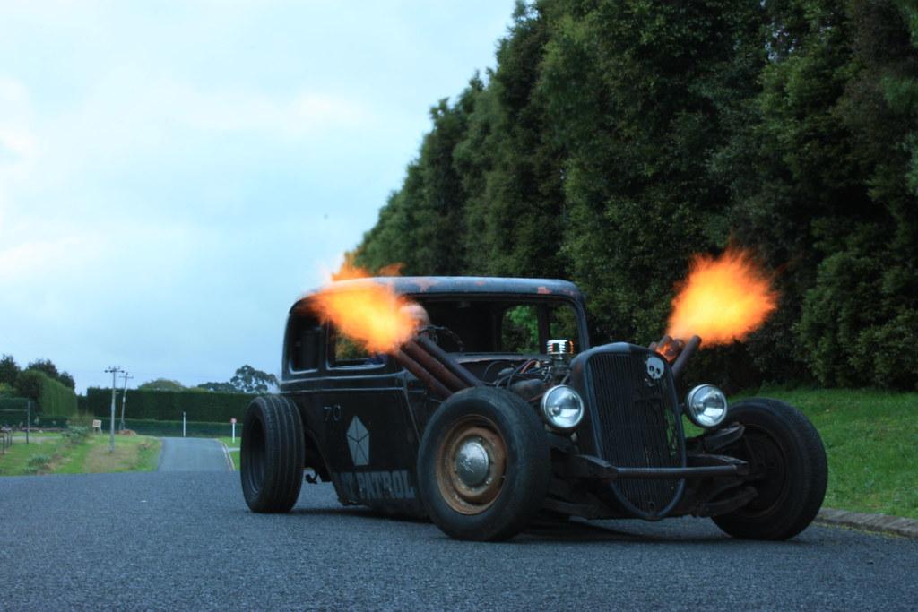 34 rat rod spitting flames | Craig Jennings | Flickr