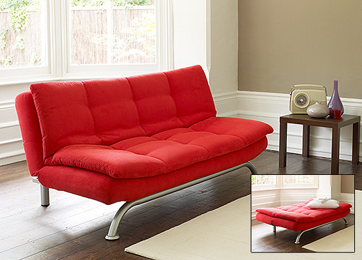 Novara Sofa Bed In Red Superb Design Coupled With Sumptuou Flickr