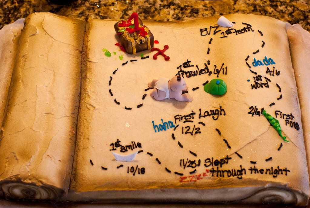 Treasure Map Cake This Is My Son S First Birthday Cake