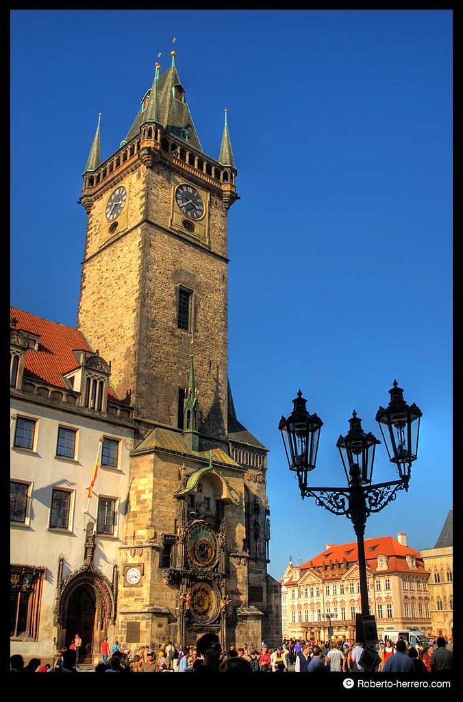 City hall tower and astronomical clock prague czech repu - Roberto herrero ...