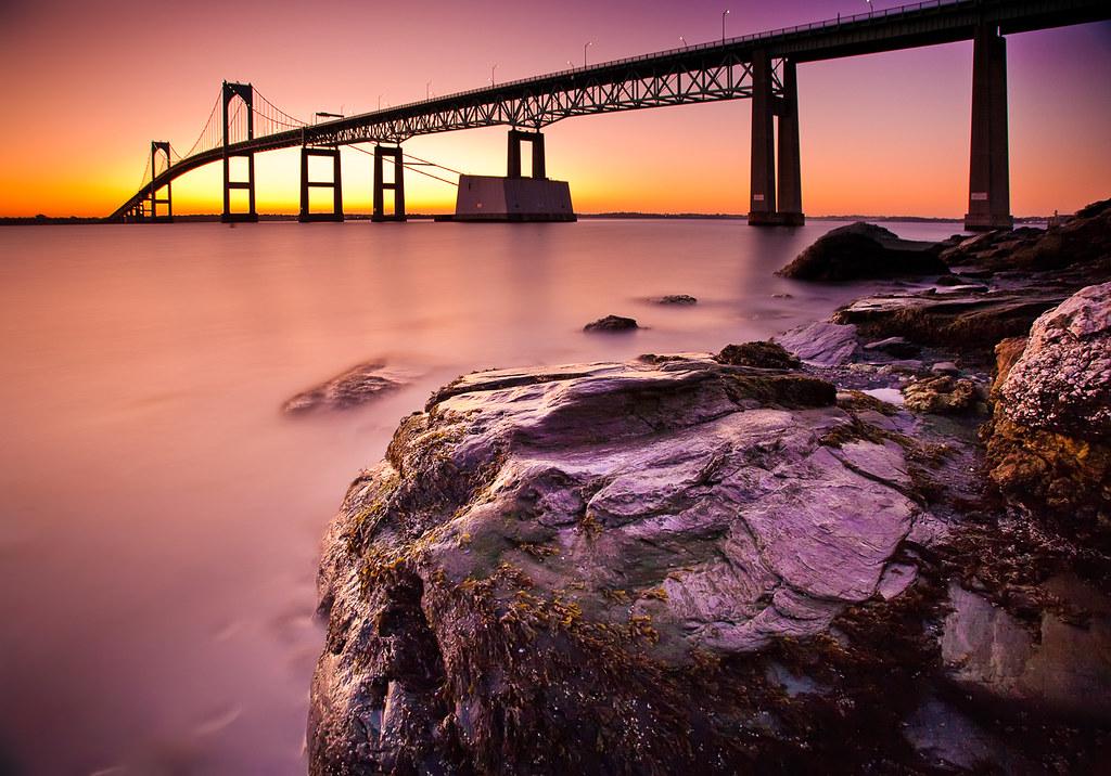 Map of Narragansett Bay Narragansett Bay Sunrise