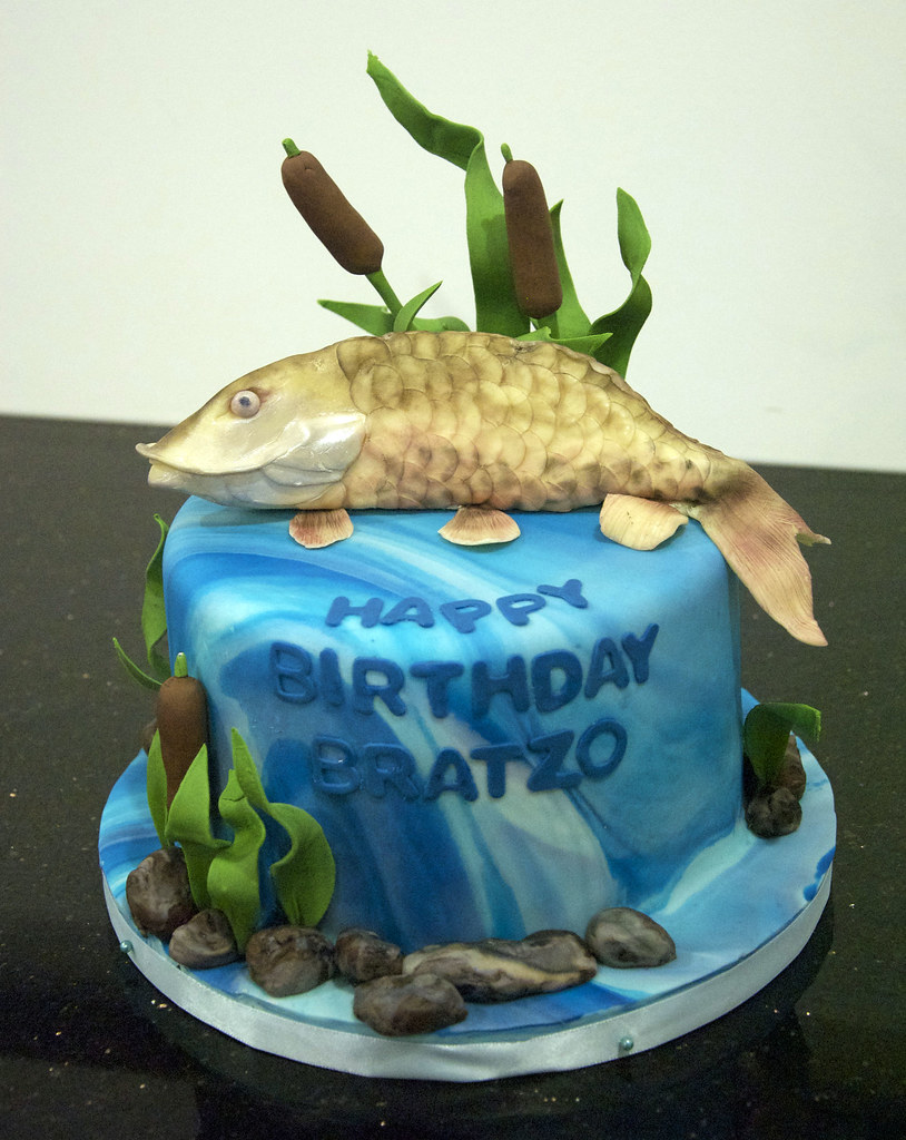 Musky Fish Birthday Cake A Hand Sculpted Musky Fish Made