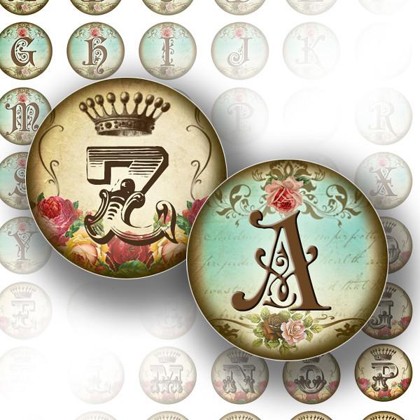 vintage alphabet letter monogram 2