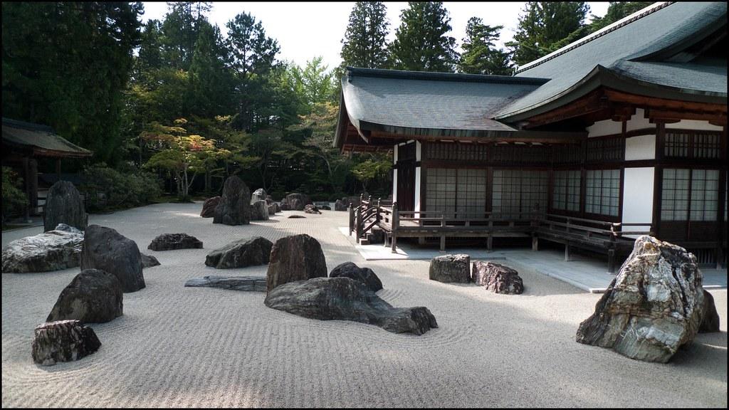 Zen buddhist garden kongobuji koyasan japan for Landscaping rocks merced ca
