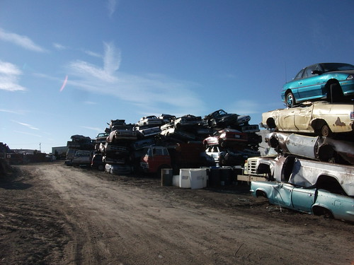 Cars awaiting shredding | by dave_7