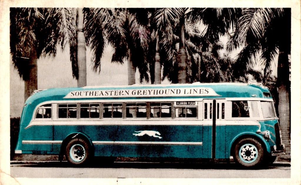 Greyhound Bus Southeastern Greyhound Lines 1937 This