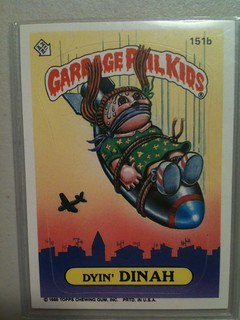 Less 343 - Garbage Pail Kids Dyin' Dinah | by MetaGrrrl