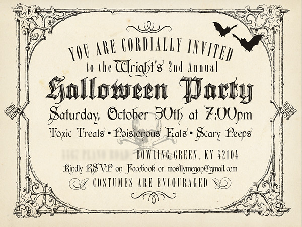 Vintage Halloween Invite