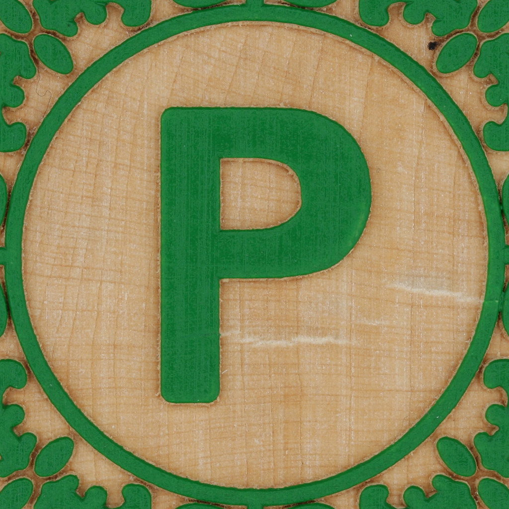 block letter p by leo reynolds