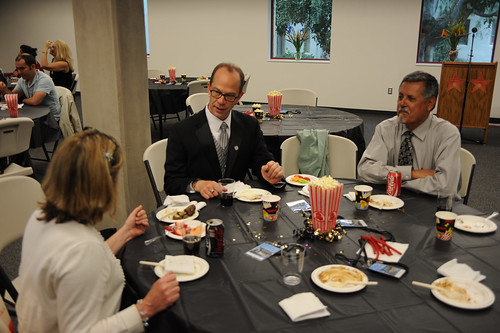 Faculty conversing at the 2009 Celebration of Faculty Accomplishments | by California State University Channel Islands