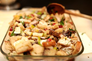 sourdough, pear, and chestnut stuffing | by sassyradish