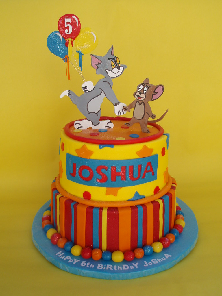 Tom and Jerry 5th Birthday Cake The famous cat and mouse d Flickr
