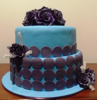 Blue amp purple birthday cake emma flickr