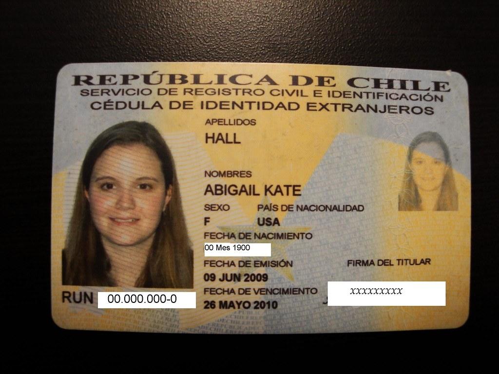Carnet - Santiago, Chile Study Abroad | A Chilean cedula de … | Flickr